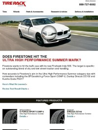 Tire Rack: Hitting the Ultra High Performance Summer Mark