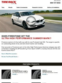 Tire Rack: Hitting the Ultra High Performance Summer Mark ...