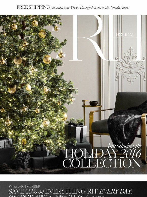 Modern Chandelier Restoration Hardware: Discover The Holiday 2016 Collection