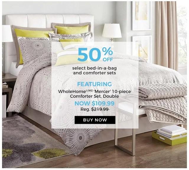 Sears Canada: Dream sale: 50% off pillows, duvets