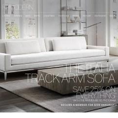 Italia Sofa Rh Bed Corner Storage Restoration Hardware Save 25 On The Track Arm