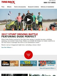 Tire Rack: That Day Dude Perfect Came to Tire Rack | Milled
