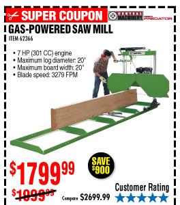 Harbor Freight Saw Mill Price