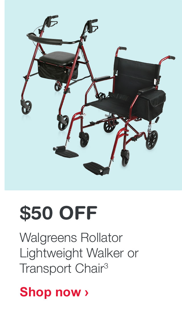 walgreens transport chair oversized chaise lounge australia gifted 25 off beauty milled 50 rollator lightweight walker or