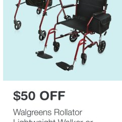 Transport Chair Walgreens Swivel For Living Room Drugstore Com Gifts They Love 25 Off Think Kerastase Braun 50 Rollator Lightweight Walker Or