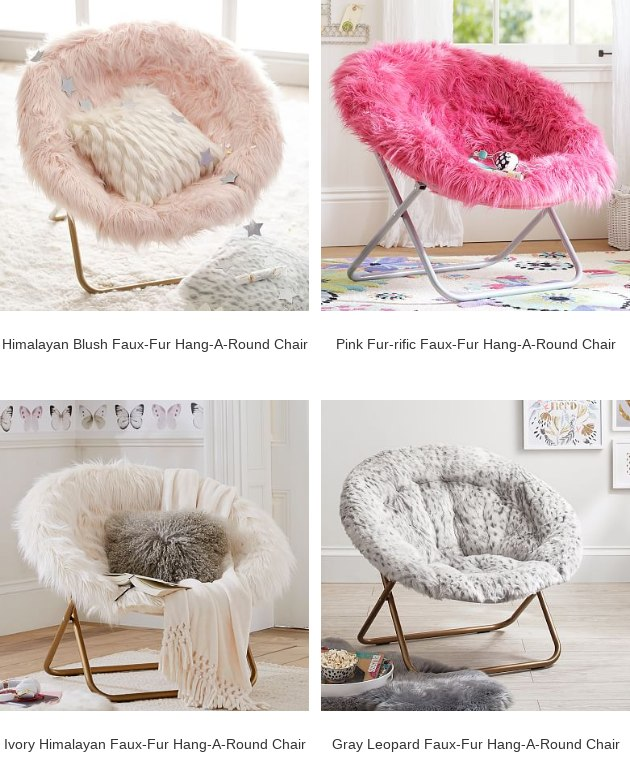 hang a round chair infant sleeper pbteen plume himalayan faux fur is worth