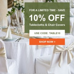 Tablecloths And Chair Covers Ivory Tableclothsfactory Don T Miss Out Save 10 Off Shop