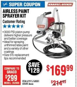 Harbor Freight Airless Paint Sprayer
