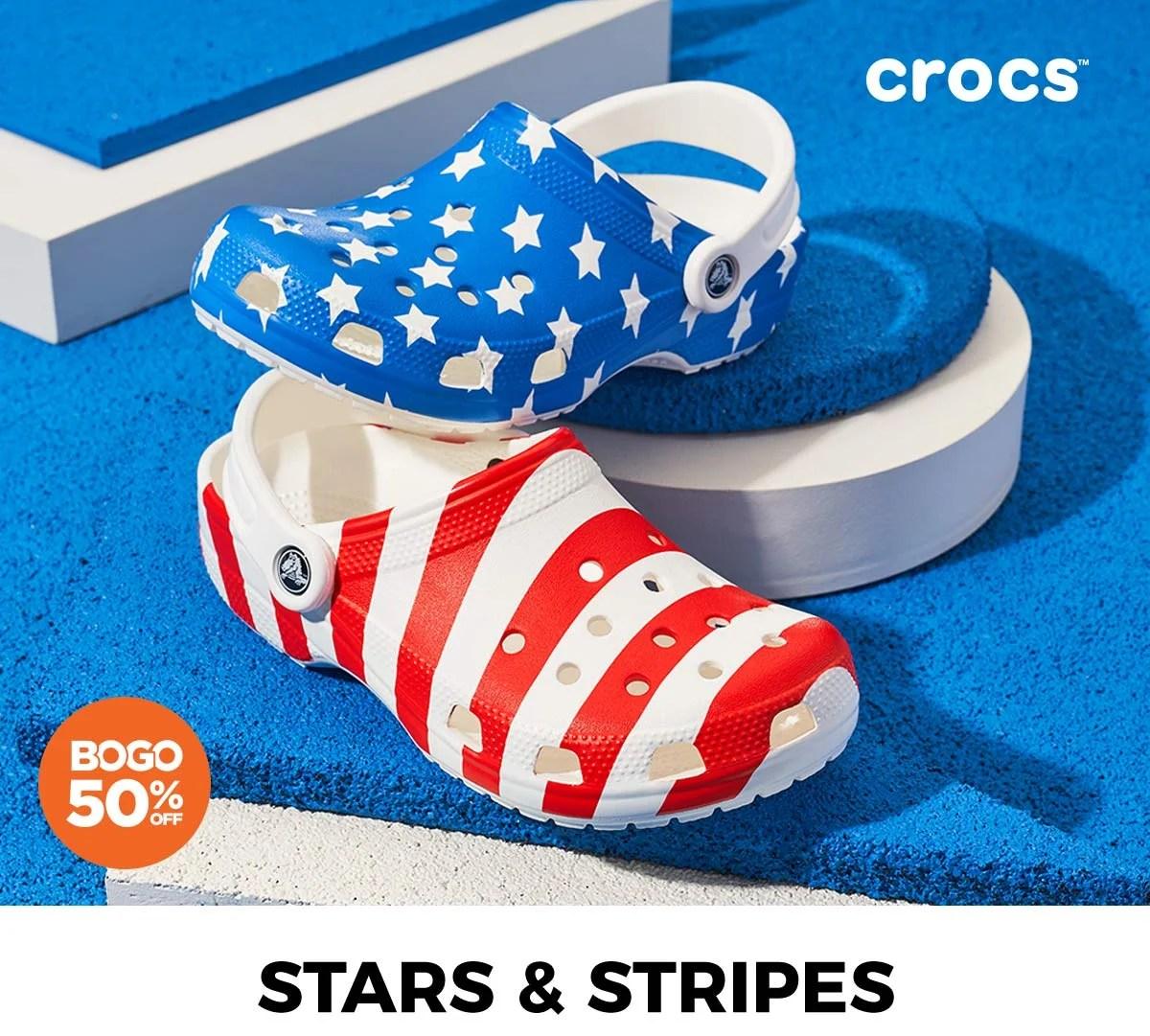 4th of july crocs cheaper than retail