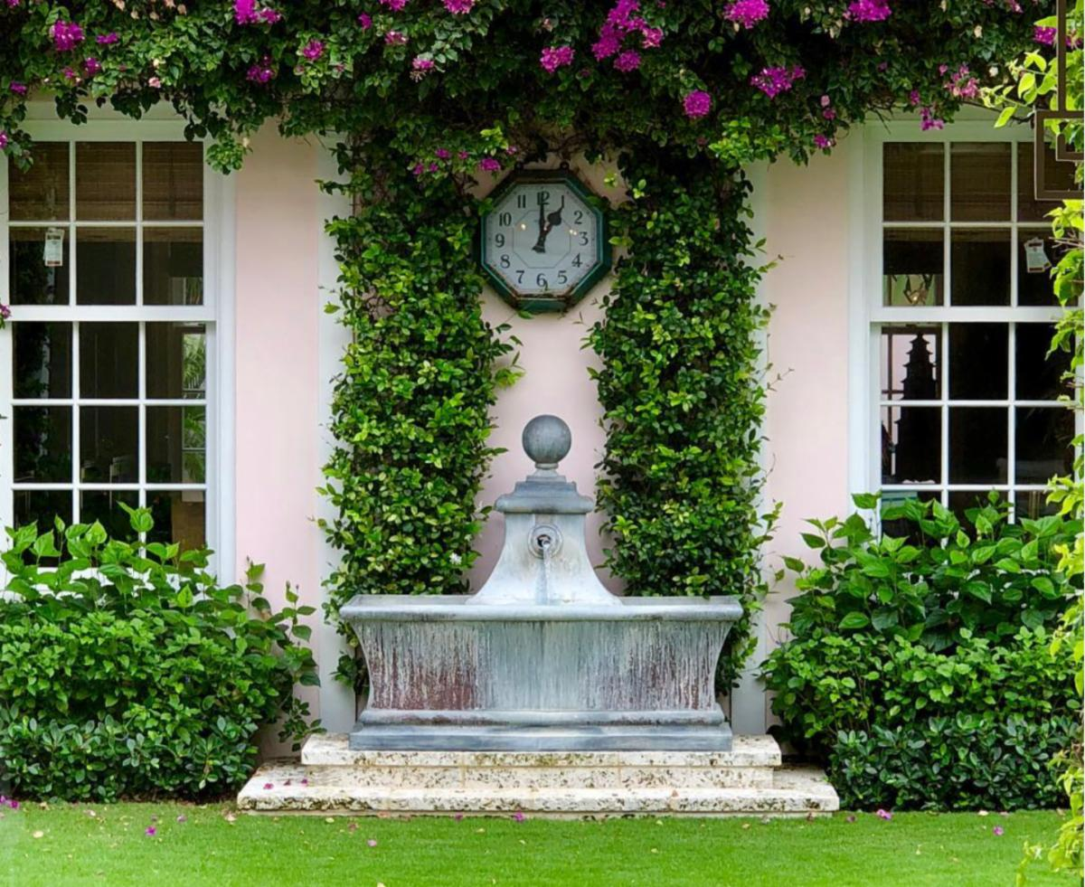 Authentic Provence Compliment Your Garden With A Gracious Lead Fountain Milled