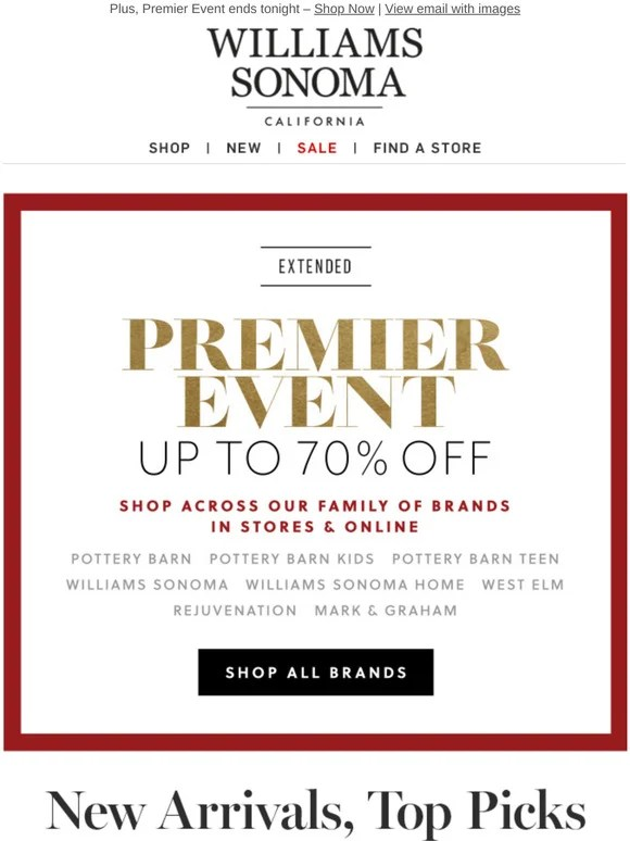 Comenity Bank William Sonoma : comenity, william, sonoma, Williams-Sonoma:, Arrivals, Season!, Williams, Sonoma, Milled