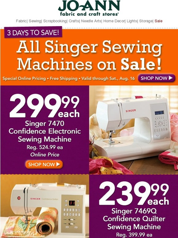 Joann Sewing Machines : joann, sewing, machines, Jo-Ann, Fabric, Craft, Store:, Singer, Sewing, Machines, Sale!, Online, Milled
