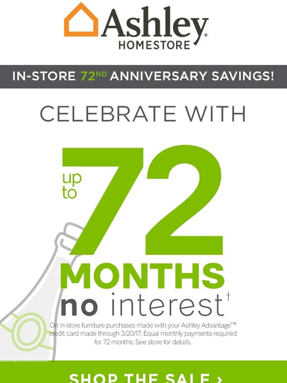Ashley Advantage Card Login : ashley, advantage, login, Ashley, Homestore:, Anniversary,, Savings, Milled