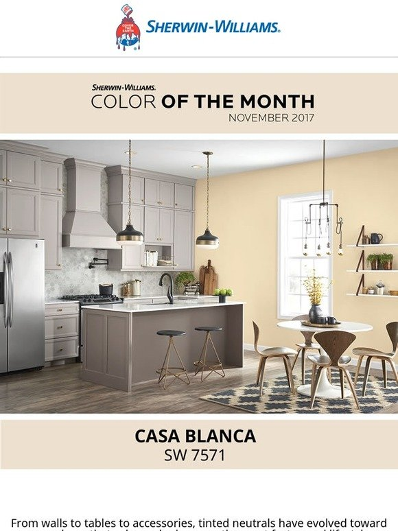 Sherwin Williams Casa Blanca : sherwin, williams, blanca, Sherwin, Williams, Home:, Color, Month, Blanca, Greet, Guests, Gallery, Wall., Milled