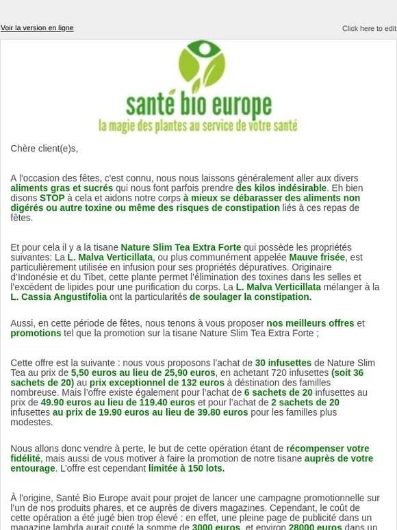 Plasma De Quinton Arthrose : plasma, quinton, arthrose, Selldorado, SANTE, EUROPE:, Newsletter, Milled