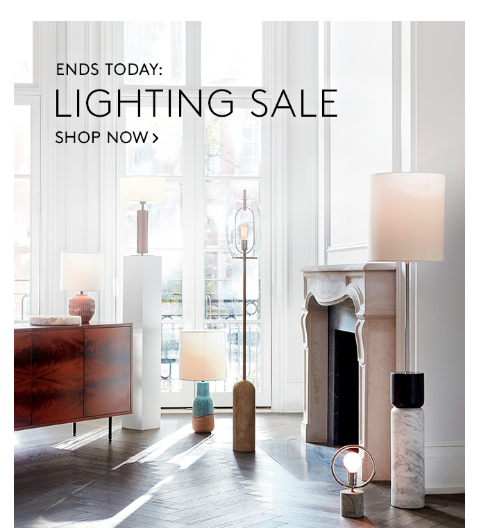 cb2 lighting sale ends today milled