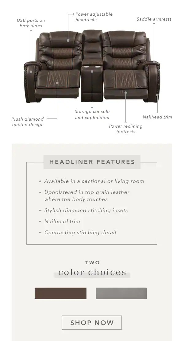 Eric Church Furniture Collection : church, furniture, collection, Rooms, Relax, Recline, Church, Headliner, Living, Room!, Milled