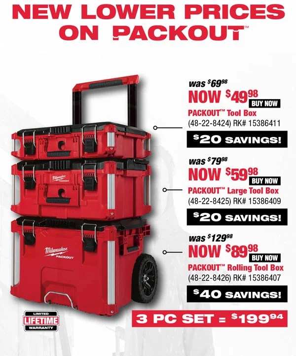 Rural King Truck Tool Boxes : rural, truck, boxes, Rural, King.com:, Milwaukee—Save, PACKOUT, Storage, Milled