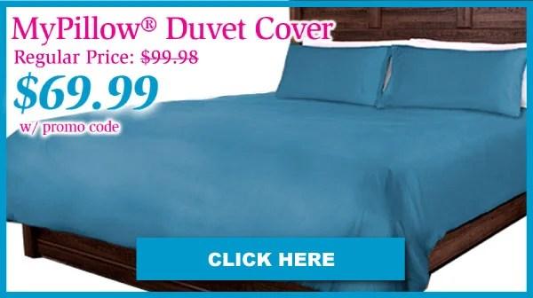 mypillow color matching duvet set for