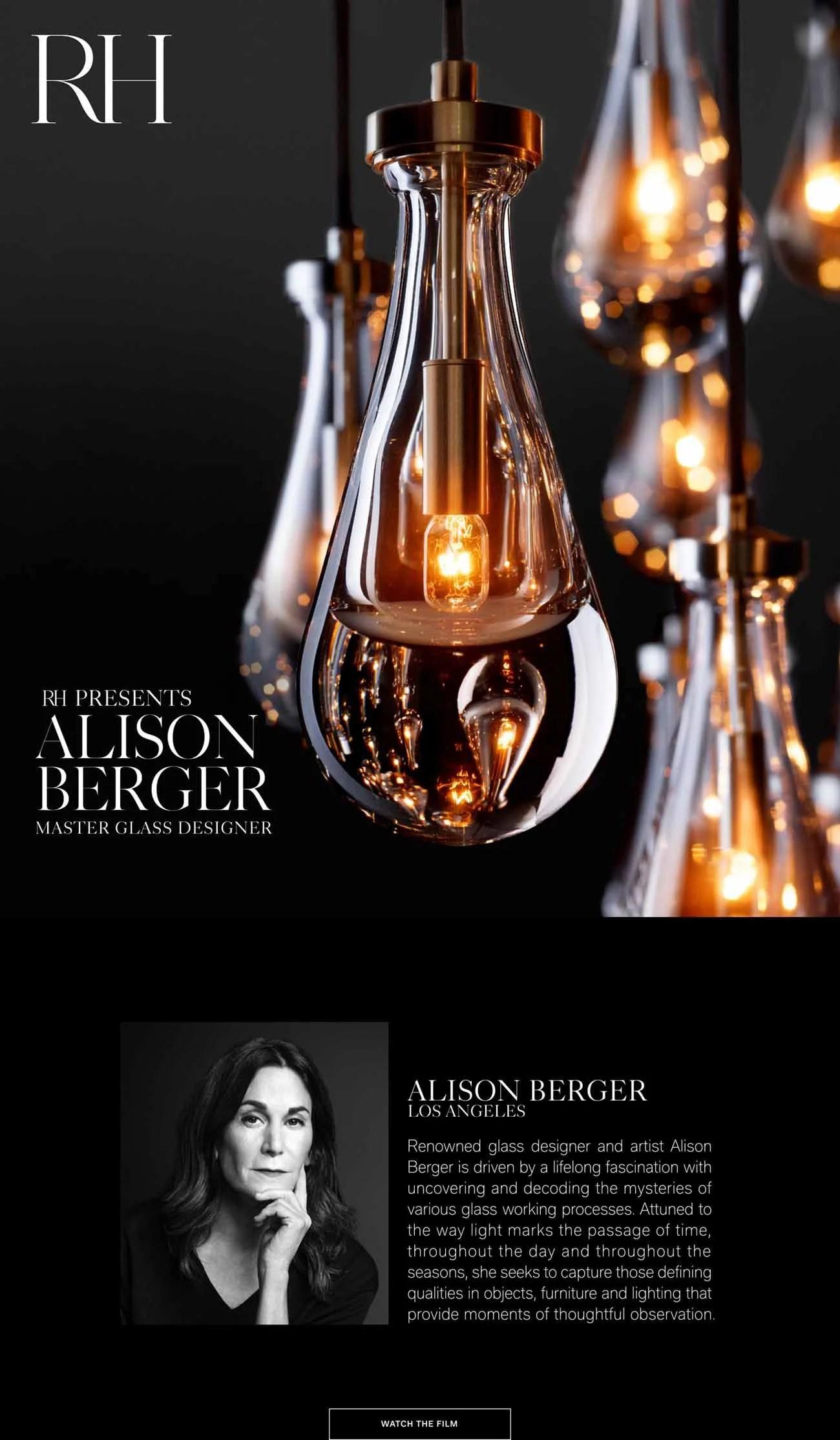 rh presents alison berger master glass
