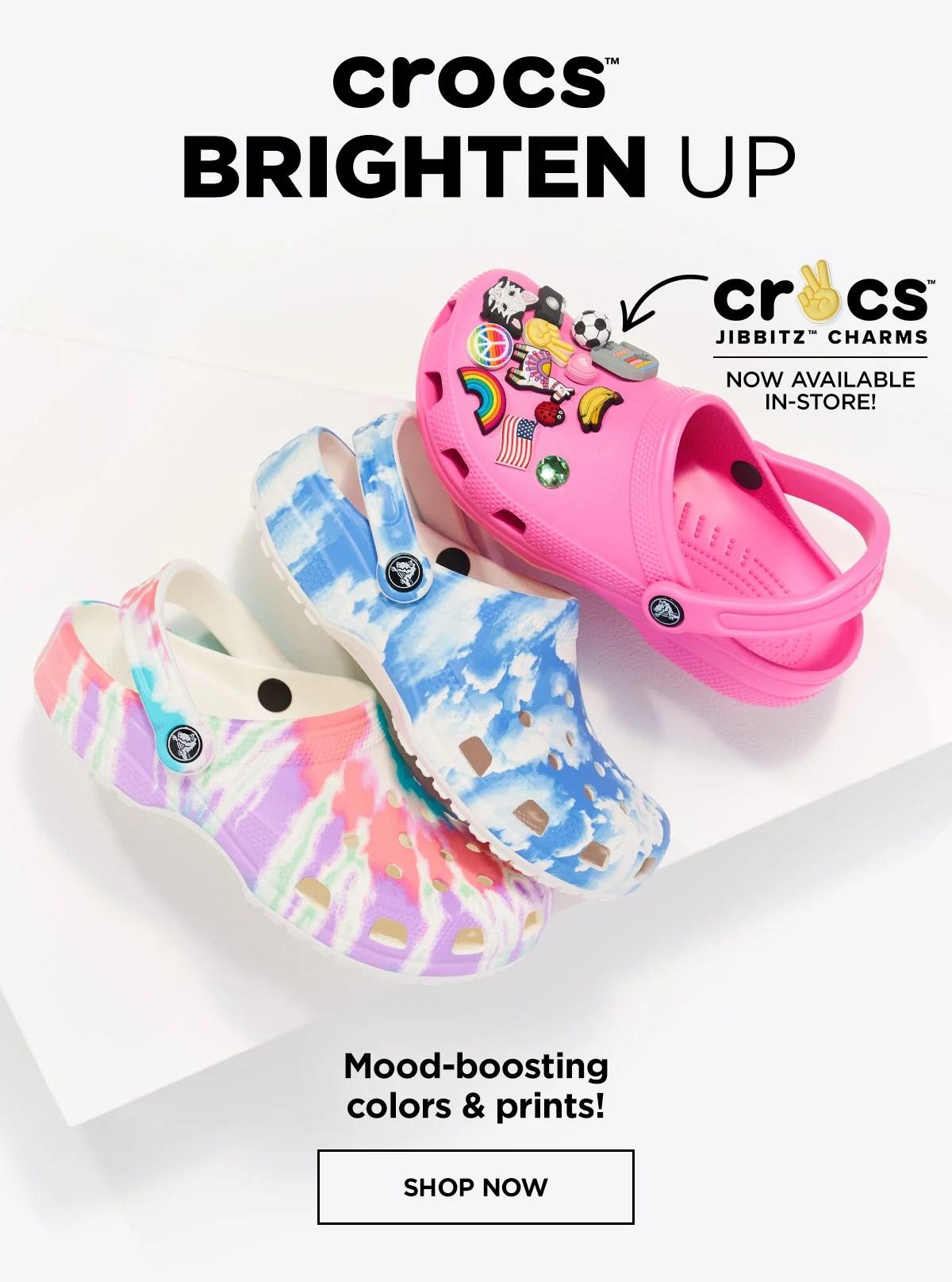 rack room shoes colorful crocs just