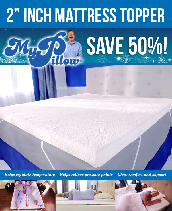 mypillow mattress topper special milled