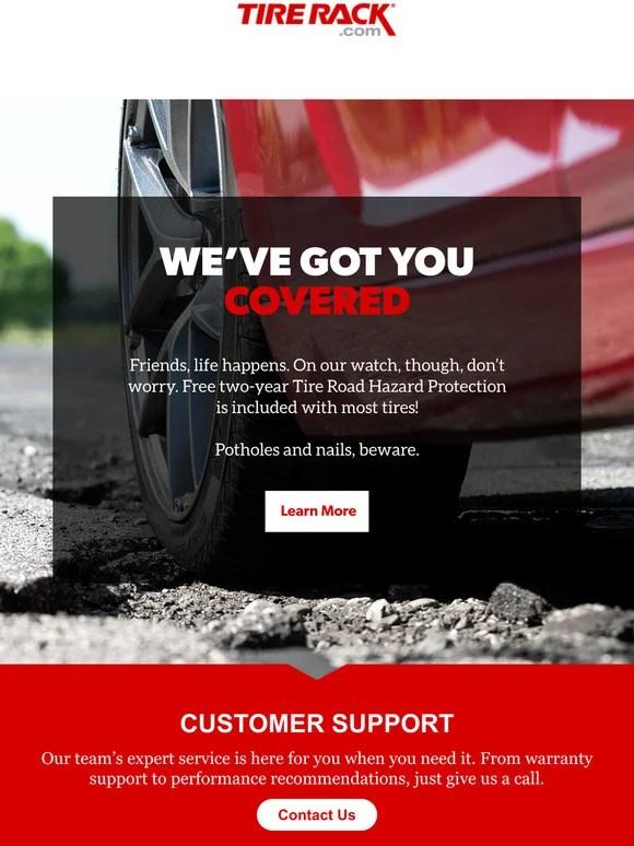 tire rack road hazard protection claim