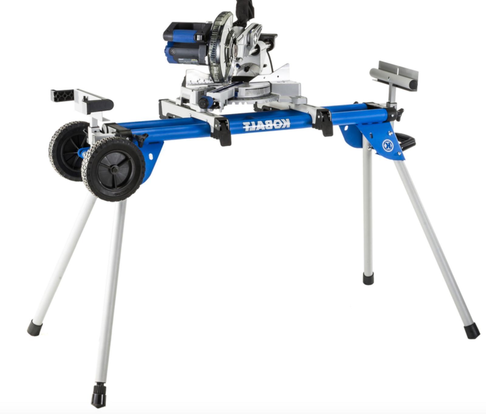 Kobalt Steel Roller Adjustable Rolling Table Saw Stand