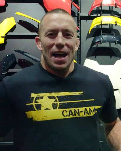 Georges St. Pierre IG Post - Got to customize a 2019 Can-Am Ryker.
