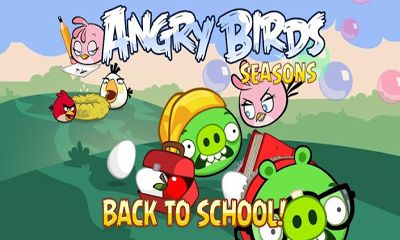 Screenshots of the Angry Birds Seasons Back To School for Android tablet, phone.