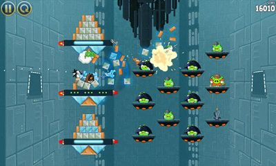 Screenshots of the Angry Birds Star Wars for Android tablet, phone.
