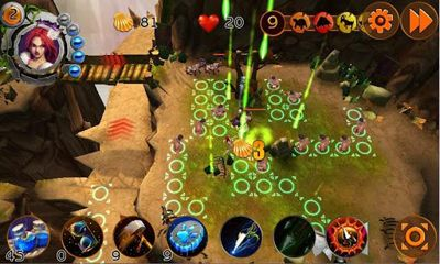 Screenshots of the Tribal Wars TD for Android tablet, phone.