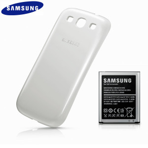 Official Samsung Extended Battery Kit for Galaxy S3 - 3000mAh - White