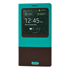 Samsung Galaxy Note 3 Smart Cover Case - Blue / Brown