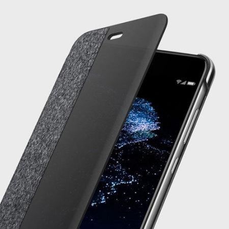 Official Huawei P10 Lite Smart View Flip Case  Dark Grey