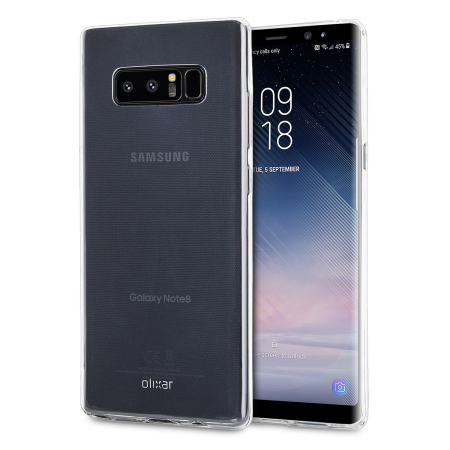 Samsung Note 8 Clear Case 100 Crystal Clear Olixar