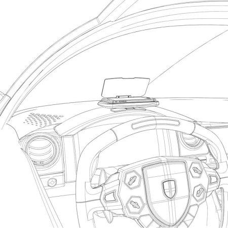 Head Up Display (HUD) Auto Navigatie Systeem