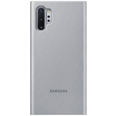 Official Samsung Galaxy Note 10 Plus S View Flip Cover Case Silver