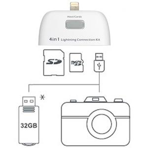 Kit 4 in 1 Connection Kit for iPad Air / iPad 4 / iPad Mini 2 / Mini