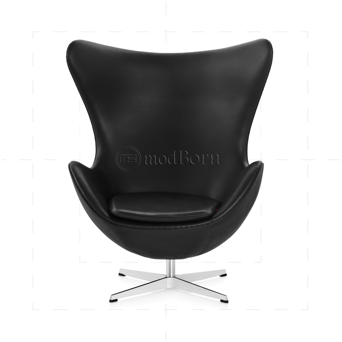 Arne Jacobsen Egg Chair Replica Arne Jacobsen Style Egg Chair Black Leather Replica