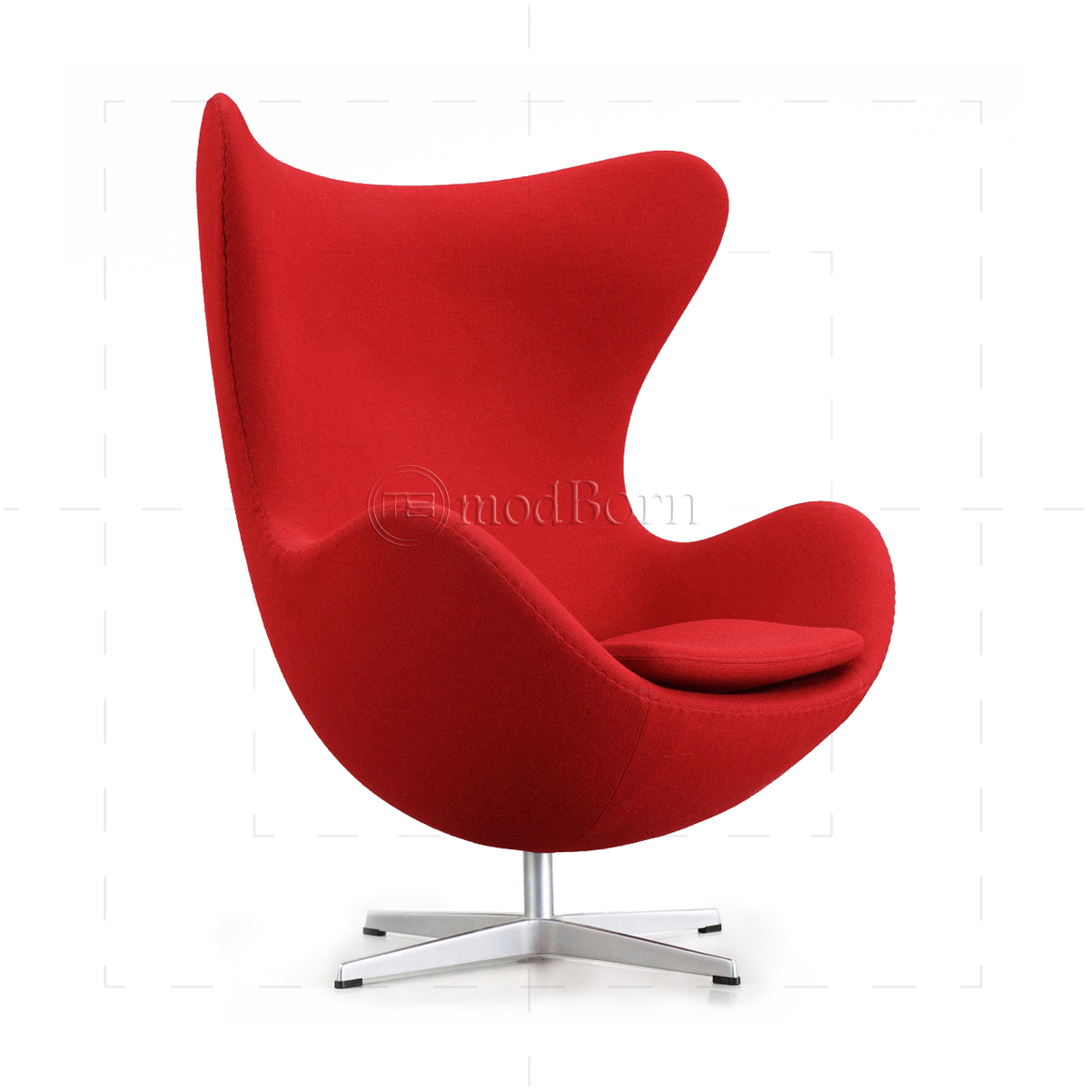 Arne Jacobsen Egg Chair Replica Arne Jacobsen Style Egg Cashmere Wool Chair Red Replica