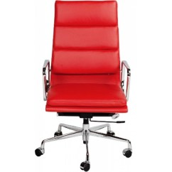 Red Desk Chair Cover Alternatives Ea219 Eames Style Office High Back Soft Pad Leather