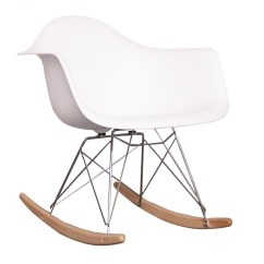 Eames Rocking Chair Inexpensive Covers For Wedding Ideas Style Dining Rar Arm White