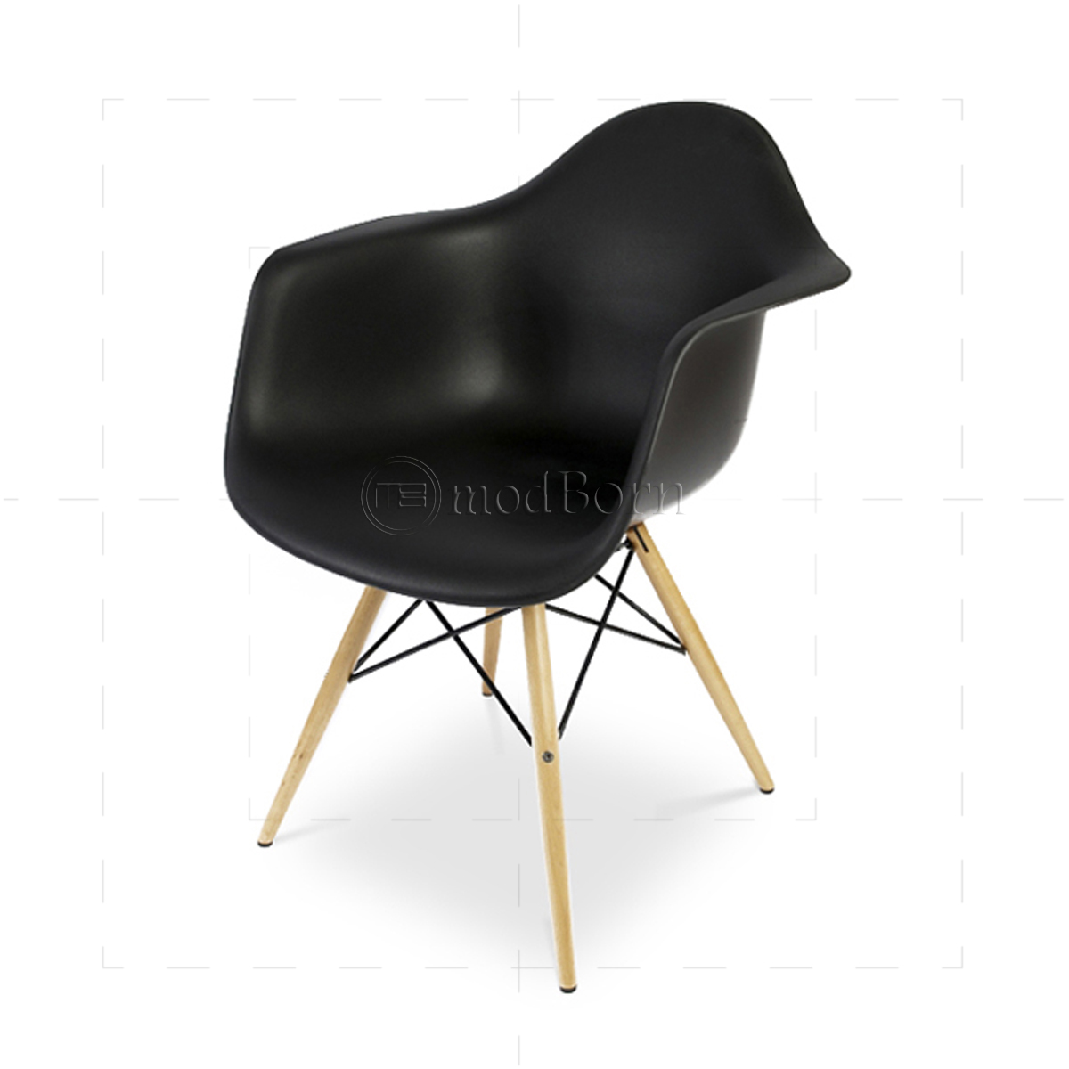 eames arm chair red and blue style dining daw black replica