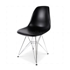 Black Eames Chair Isokinetic Ball Style Dining Dsr Eiffel Replica