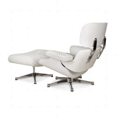 Eames Replica Chairs Uk Bedroom Chair Pottery Barn Style Lounge And Ottoman White Leather