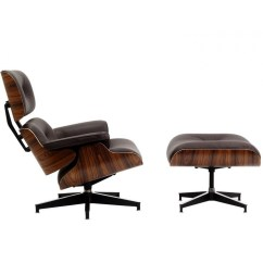 Computer Lounge Chair Open Back Dining Chairs Eames Style And Ottoman Brown Leather Walnut