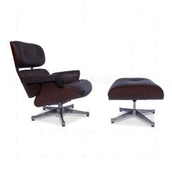 Eames Leather Chair Dining Massage Repair Service Technician Style Lounge And Ottoman Brown Cherry