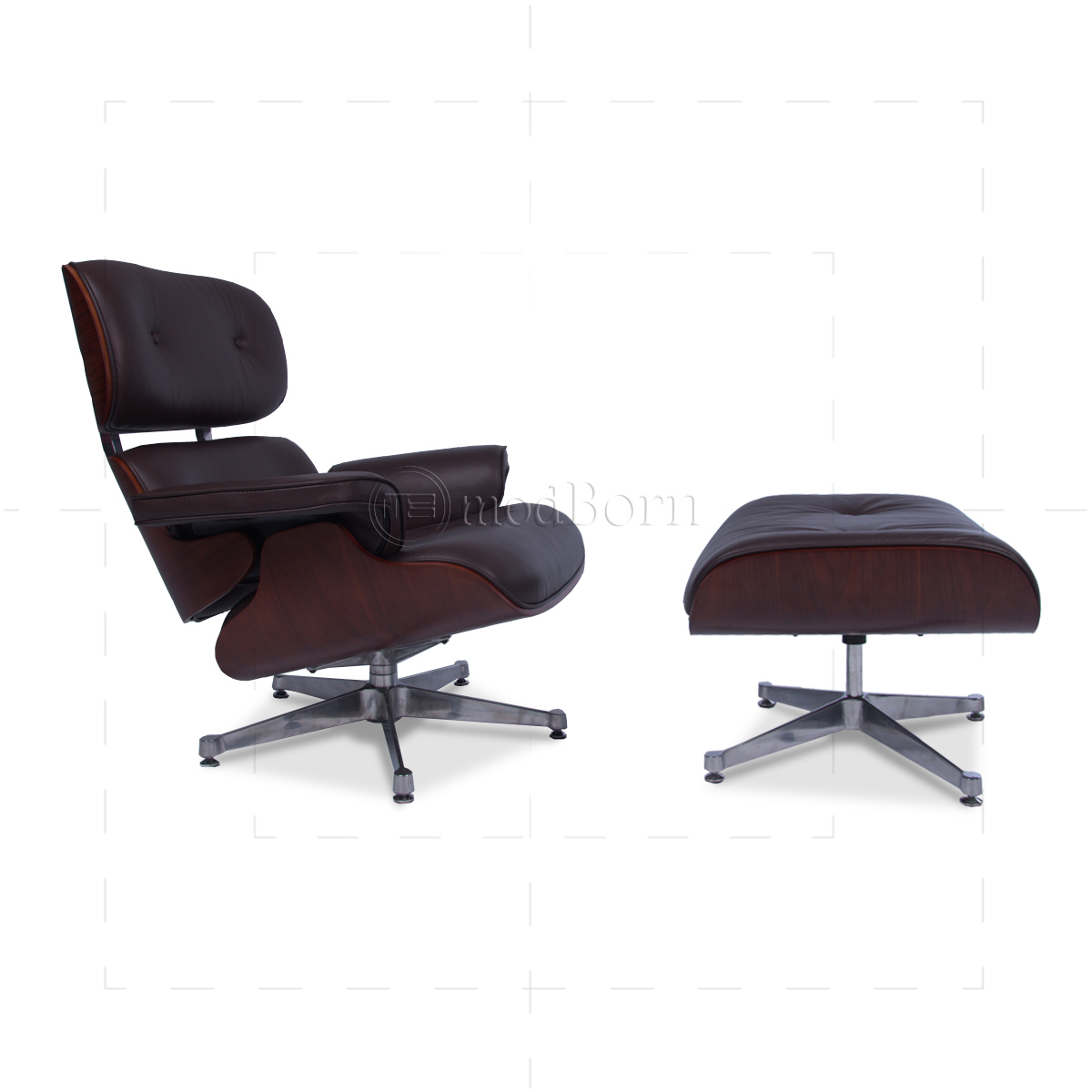 eames replica chairs uk lawn academy style lounge chair and ottoman brown leather cherry wood -