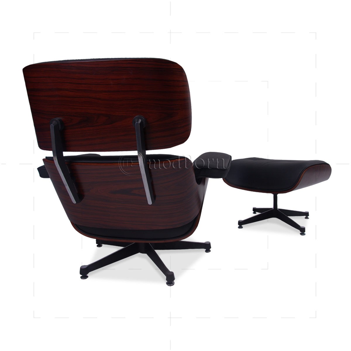 eames style lounge chair and ottoman rosewood black leather side chairs for dining room table